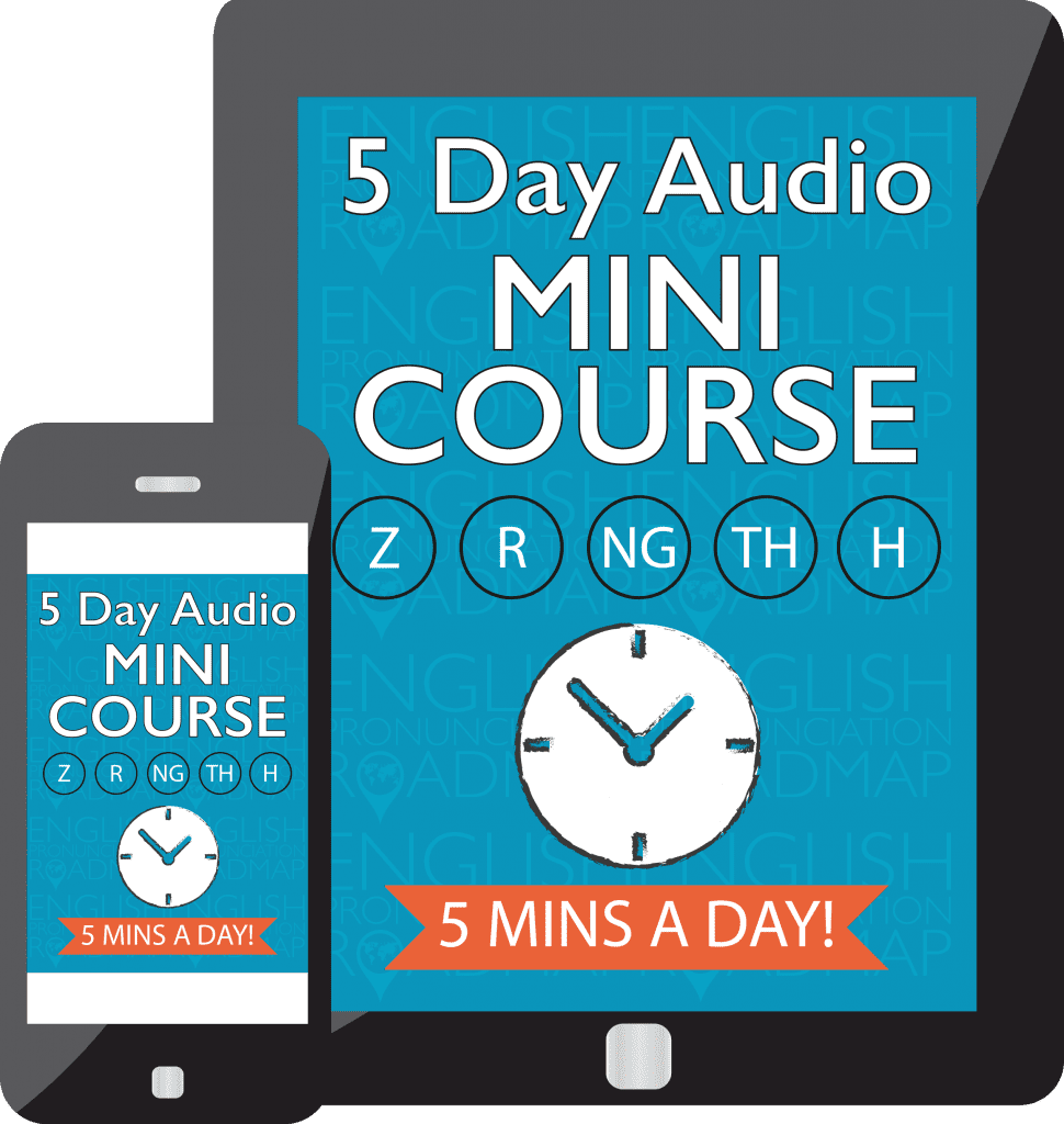 5-Day Audio Mini Course for 5 Most Commonly Mispronounced Consonants